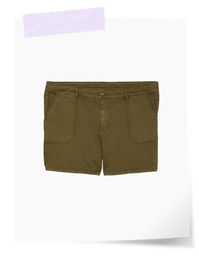 plus size olive shorts