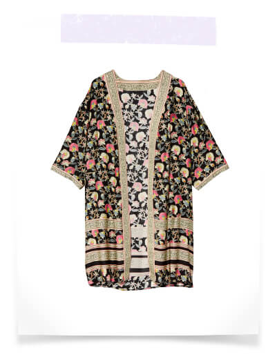 plus size swim cover ups printed long kimono