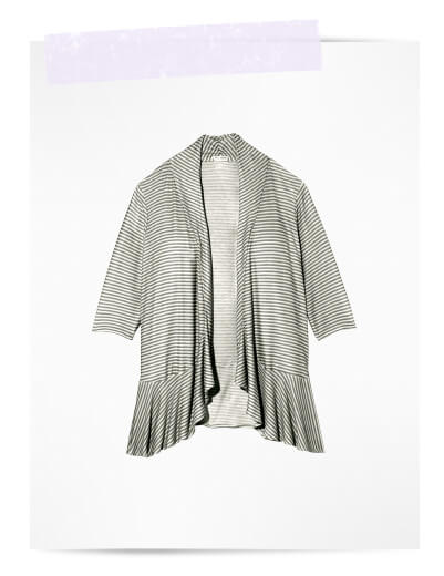 plus size swim cover ups striped cardigan with ruffle waterfall