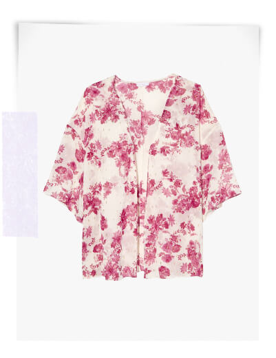 plus size swim cover ups white kimono with red flowers