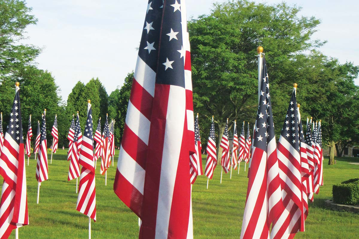 Field of Flags at Oaklawn Memorial Gardens