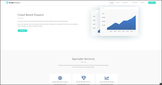 Avada Theme Demo - Finance