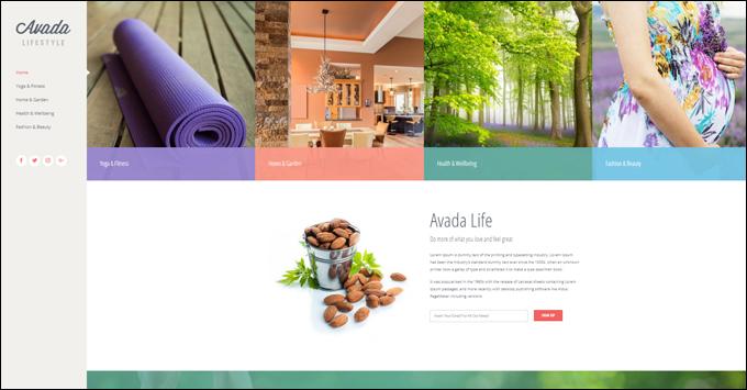 Avada Theme Demo - Lifestyle