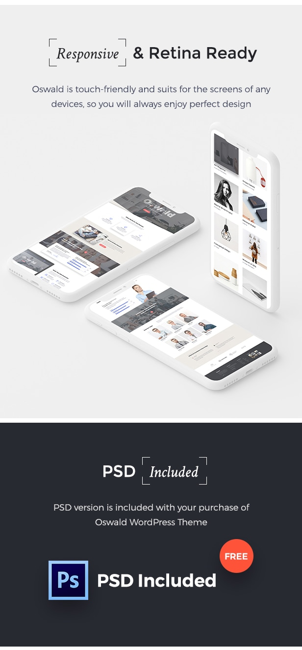 Oswald - Creative Multi-Purpose Responsive WordPress Theme - 4