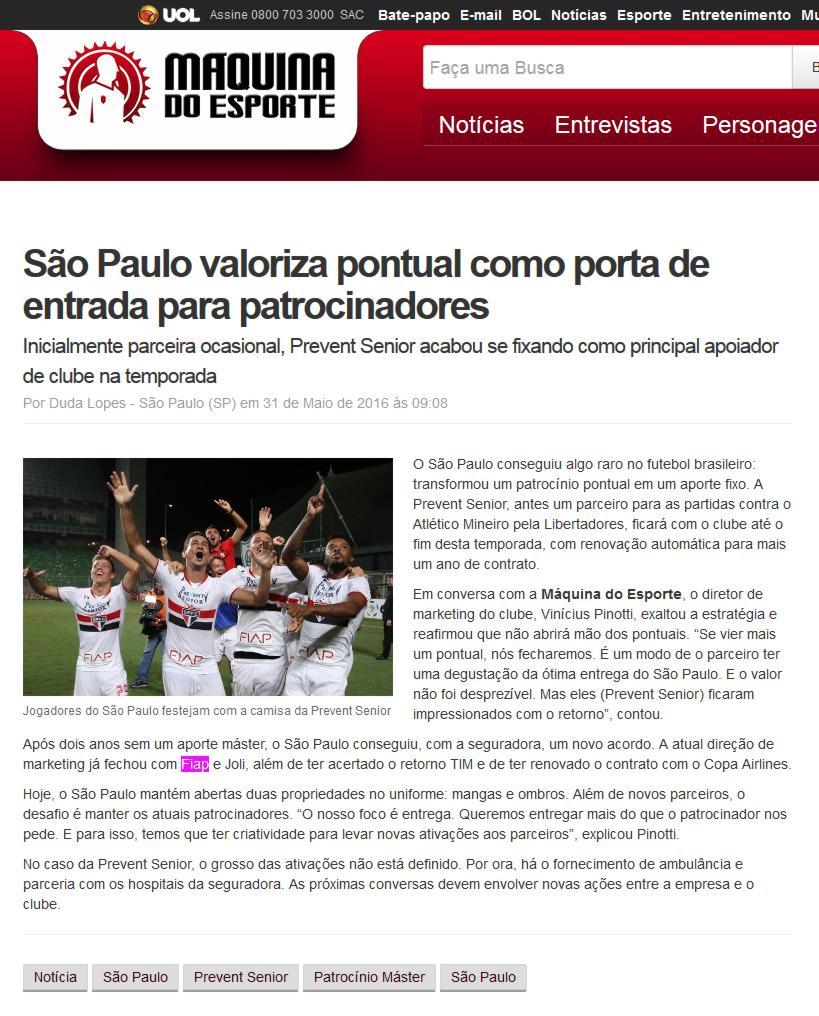 bbda287ed Site Máquina do Esporte – Notícias (SÃO PAULO VALORIZA PONTUAL COMO ...