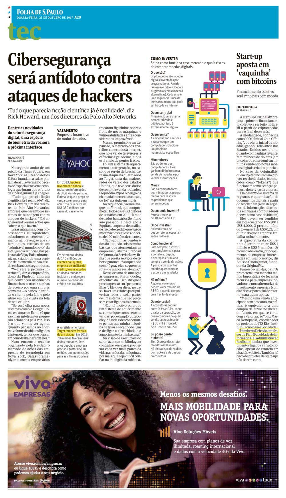 """3600883eec Jornal Folha de S.Paulo – Notícias (START-UP APOSTA EM """"VAQUINHA ..."""