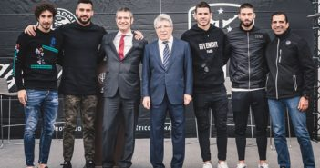 Atlético de Madrid probó el nuevo Alfa Romeo Stelvio