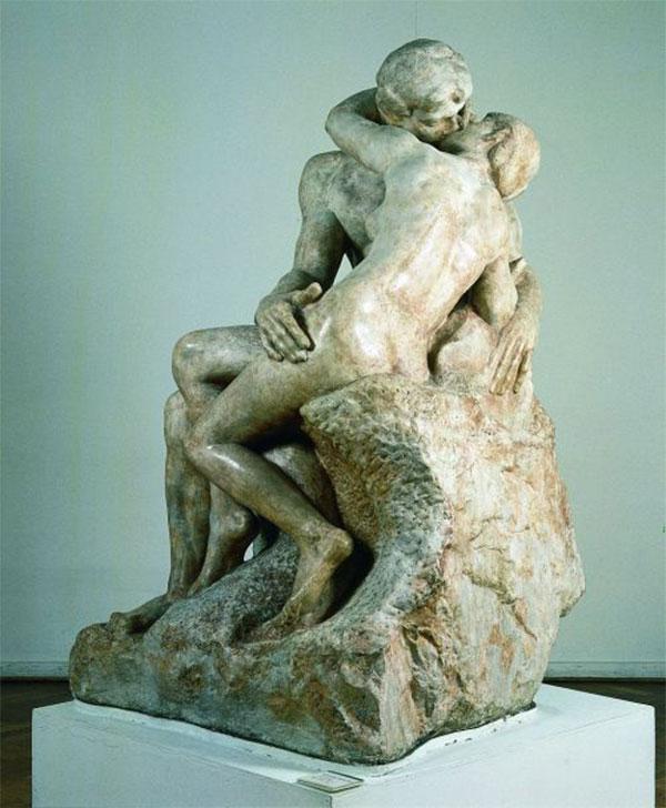 El beso, Auguste Rodin