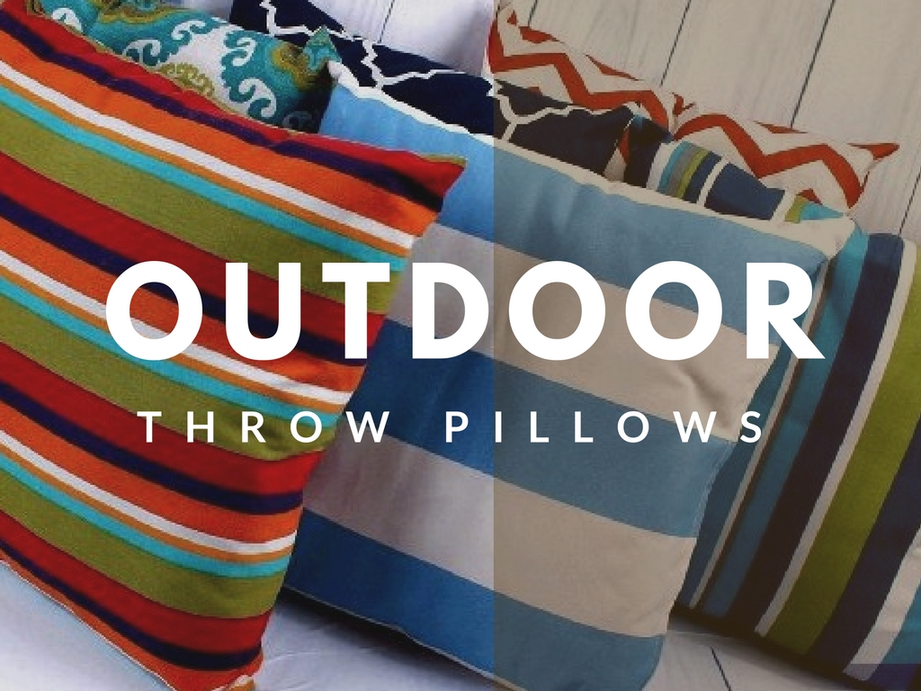 Outdoor Throw Pillows Are Versatile