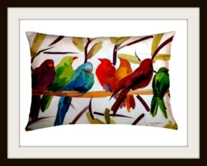Artistic Outdoor Pillows Add a Dramatic Touch