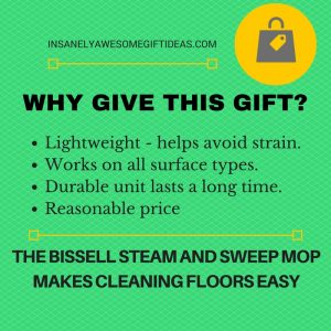 The Bissell Steam and Sweep Mop Is a Solid Gift Idea