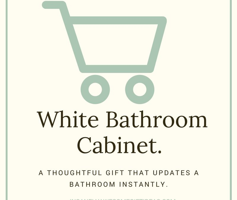 A White Bathroom Cabinet Is the Perfect Home Addition