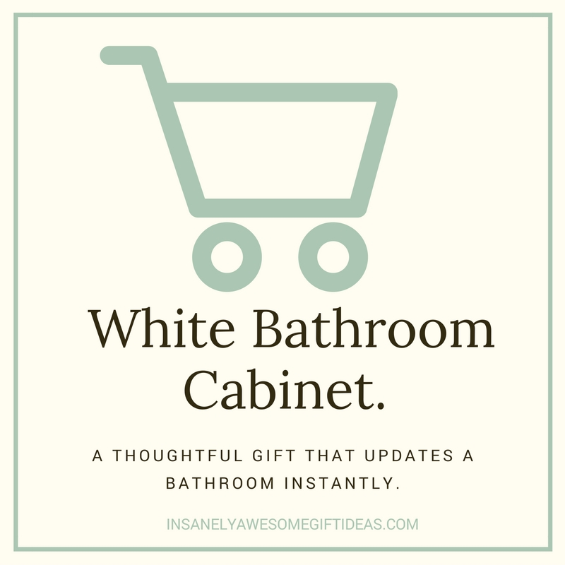 A White Bathroom Cabinet Is the Perfection Addition