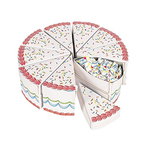 Birthday Cake Slice Treat Boxes Add To The Party Fun