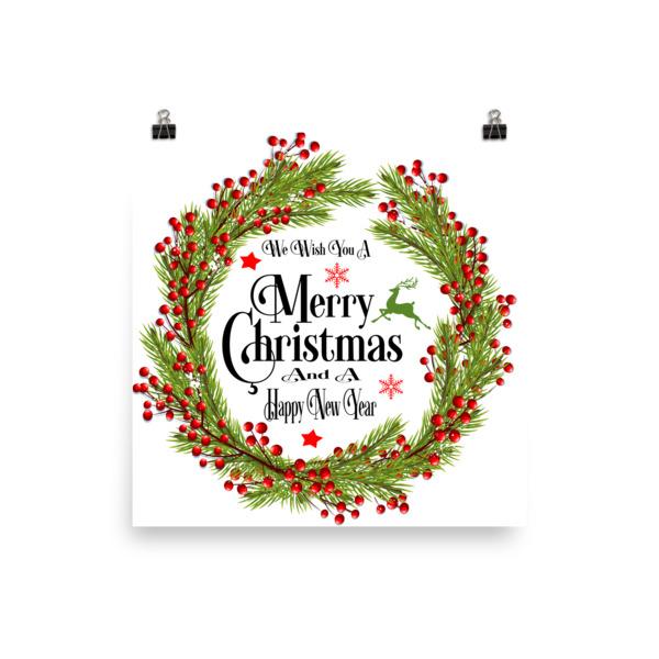 we wish you a merry christmas wall art