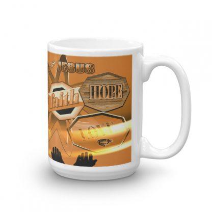 Faith Hope Love Christian Ceramic Mug