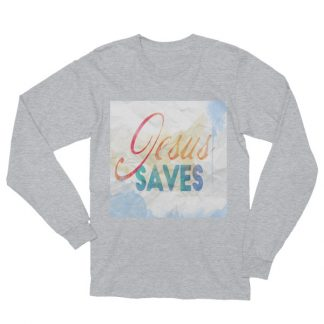 Jesus Saves Watercolor Unisex Long Sleeve Tee