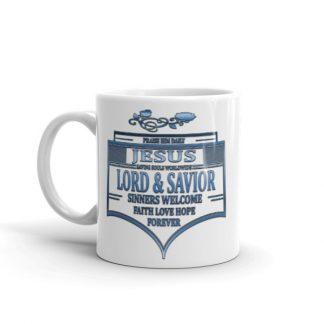 Ornate Praise Jesus Coffee Mug