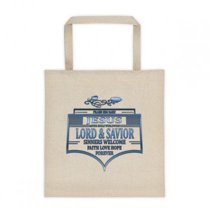 Praise Jesus Badge Tote Bag