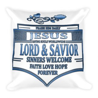 Jesus Badge Pillow