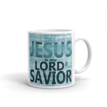 Jesus Is My Lord And Savior Grunge Mug