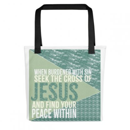 Seek The Cross Within Christian Tote Bag