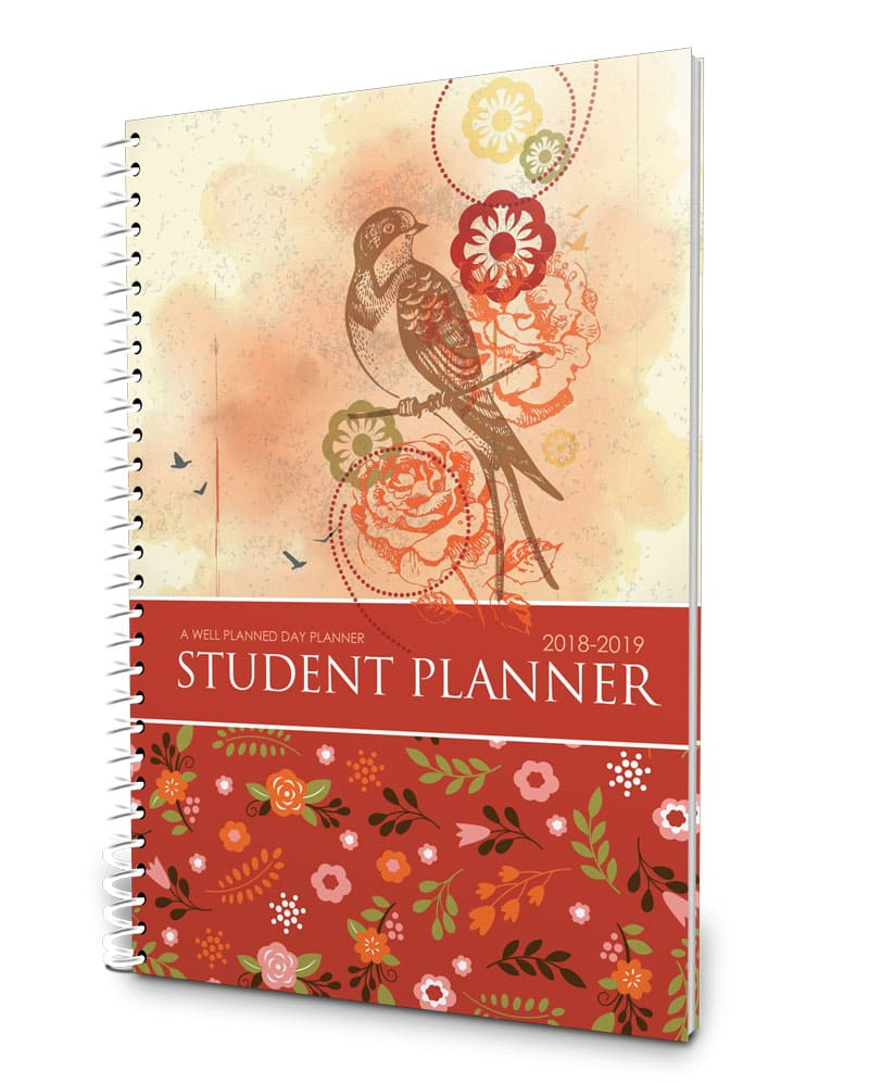 floral middle school planner 2018-2019