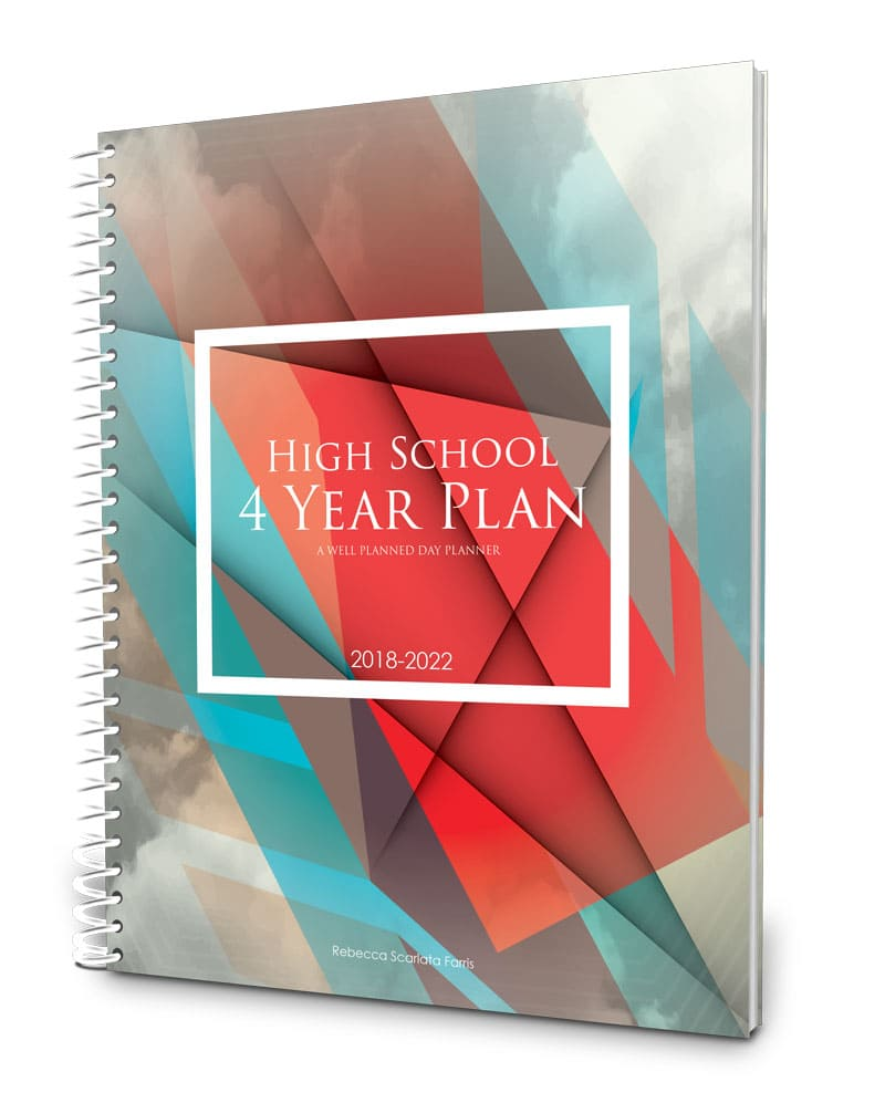 Four-year high school planner and portfolio 2018-2022
