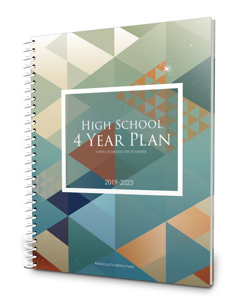 Four-year high school planner and portfolio 2019-2023