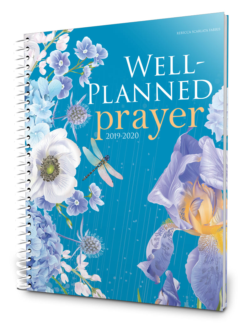 Beautiful 2019-2020 prayer planner for managing prayer and life