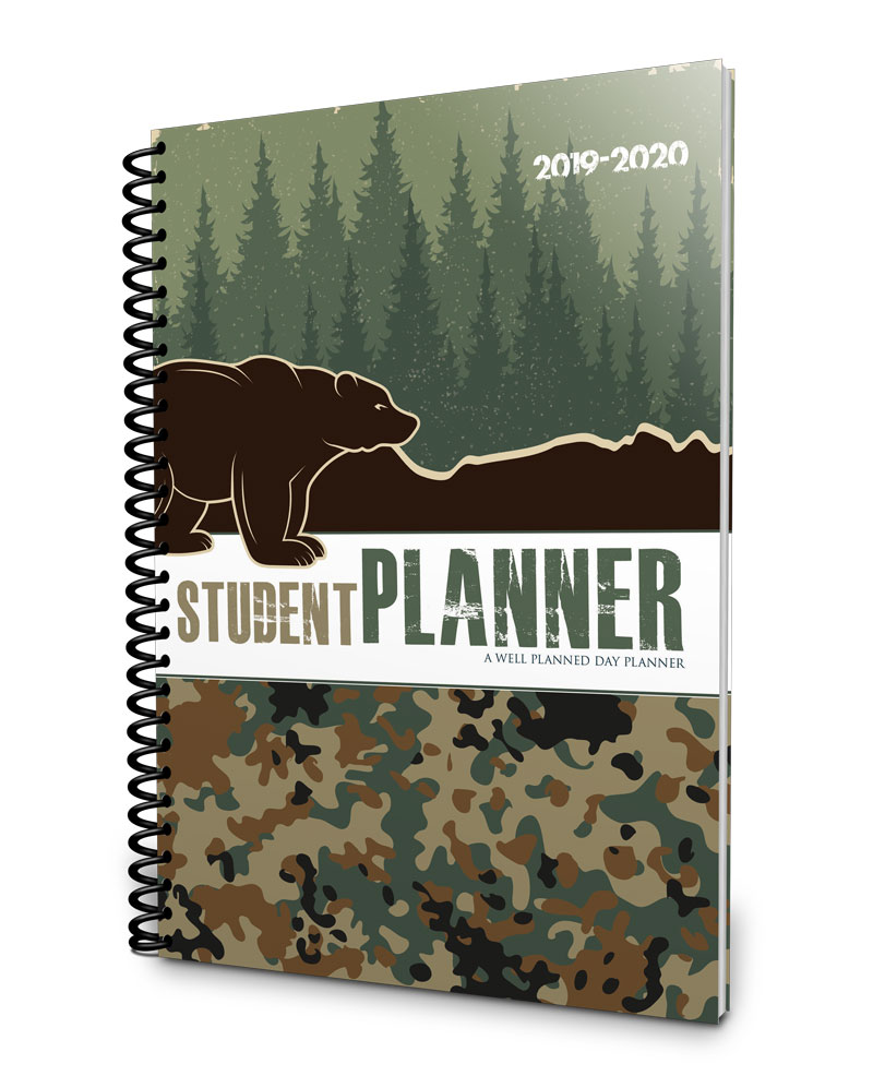 Fun, camo 2019-2020 middle school planner