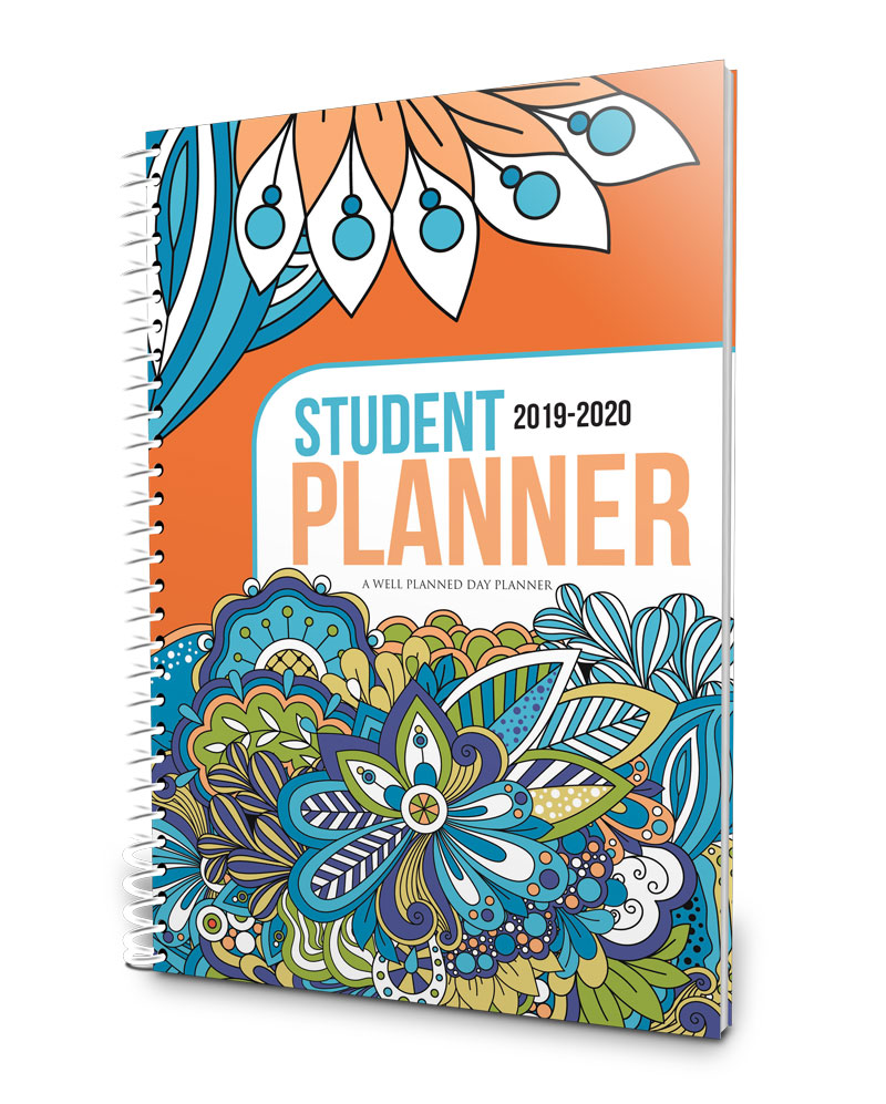 Beautiful, floral 2019-2020 middle school planner