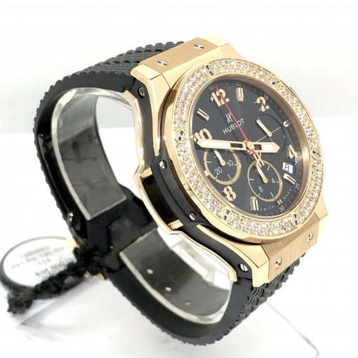 Hublot Big Bang Diamonds 18K Rose Gold  Black Rubber Unisex Watch, 341.PX.130.RX.114 3