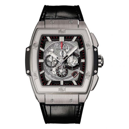 Hublot Chronograph Spirit of Bing Bang Titanium Men`s Watch, 601.NX.0173.LR.1704