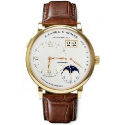 A. Lange & Sohne Grande Lange1 Moonphase 18K Yellow Gold Men`s Watch, preowned.109.021F preowned.109.021F