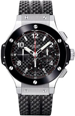 Hublot Big Bang Stainless Steel Carbon Rubber Chronograph Automatic Men's Watch, 301.SB.131.RX 301.SB.131.RX