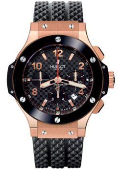 Hublot Big Bang 18K Rose Gold Chronograph Ceramic Rubber Men's Watch, 301.PB.131.RX 301.PB.131.RX