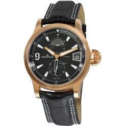 Jaeger LeCoultre Master Compressor Rose Gold Leather Men`s Watch Q1732441