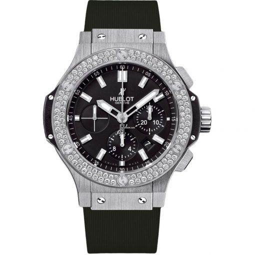 Hublot Big Bang Steel Diamonds Rubber  Men`s Watch, 301.SX.1170.RX.1104