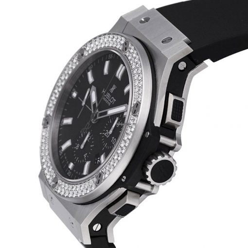 Hublot Big Bang Steel Diamonds Rubber  Men`s Watch, 301.SX.1170.RX.1104 2