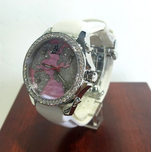 Jacob and Co Five Time Zone Stainless Steel and White Diamonds Watch, JCM47WPBZ 7