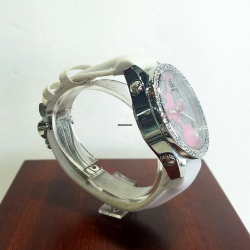 Jacob and Co Five Time Zone Stainless Steel and White Diamonds Watch, JCM47WPBZ 4