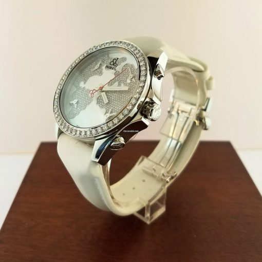 Jacob & Co Five Time Zone Stainless Steel and White Diamonds Watch, JCM47WWBZ 8