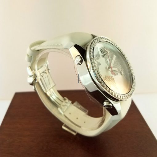 Jacob & Co Five Time Zone Stainless Steel and White Diamonds Watch, JCM47WWBZ 2