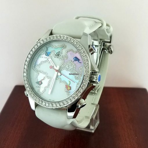 Jacob and Co Five Time Zone Stainless Steel and White Diamonds Watch, JCM123BZ 11