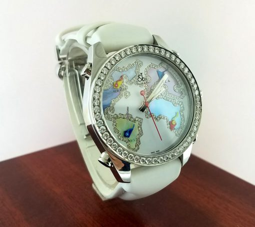 Jacob and Co Five Time Zone Stainless Steel and White Diamonds Watch, JCM123BZ 6
