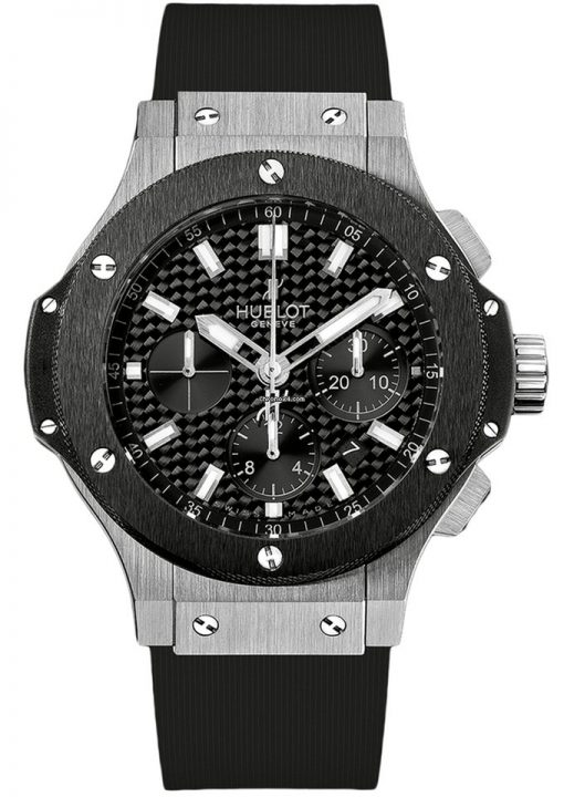 Hublot Big Bang Stainless Steel Ceramic Rubber Automatic Men`s Watch, 301.SM.1770.RX