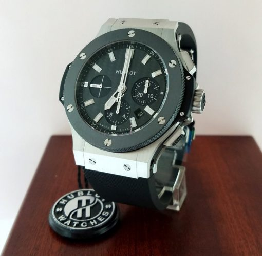 Hublot Big Bang Stainless Steel Ceramic Rubber Automatic Men`s Watch, 301.SM.1770.RX 6