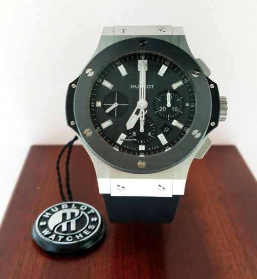 Hublot Big Bang Stainless Steel Ceramic Rubber Automatic Men`s Watch, 301.SM.1770.RX 9