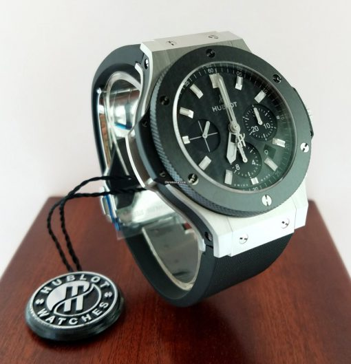 Hublot Big Bang Stainless Steel Ceramic Rubber Automatic Men`s Watch, 301.SM.1770.RX 12